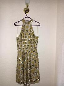 Virgos Lounge Gold Sequin Dress Never Worn