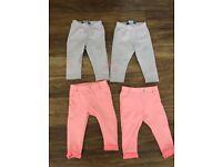 Girls trousers leggings bundle age 6-9