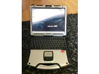 Diagnostic laptop Panasonic toughbook delphi DPF Engine management