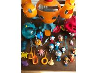 Collection of Octonauts Figures, Vehicles and Octopod