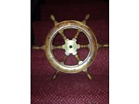 Traditional well made boat wheel