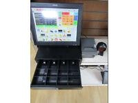 Posligne Epos till system for restaurant, cafe, offlicence, shop. Cash till register.