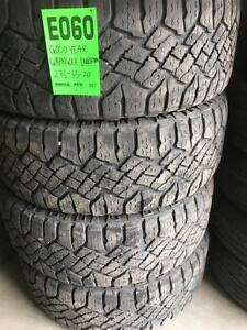 E060) 4- P275/55r20 GOODYEAR WRANGLER DURATRAC TIRES  EXCELLENT $ 520 set
