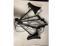 2 Anglepoise Desk Lamps - Clamp onto the side of the desk - Screw Fitting
