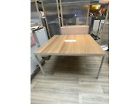 BEKANT Conference table, oak/white
