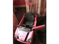 Pink Mini push along toy car