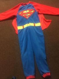Boys Superman Onesie with Cape Age 6-7 Years