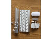 Apple Magic Mouse and GERMAN magic keyboard and mobee wireless rechargeable battery