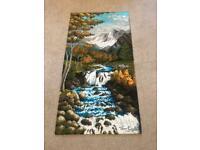 Highland Stream Landscape Rug 100% Polypropylene 275in/70cm x 51in/130cm Very Good condition R023