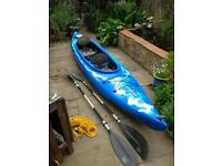Dagger blackwater tandem kayak with additional child's seat