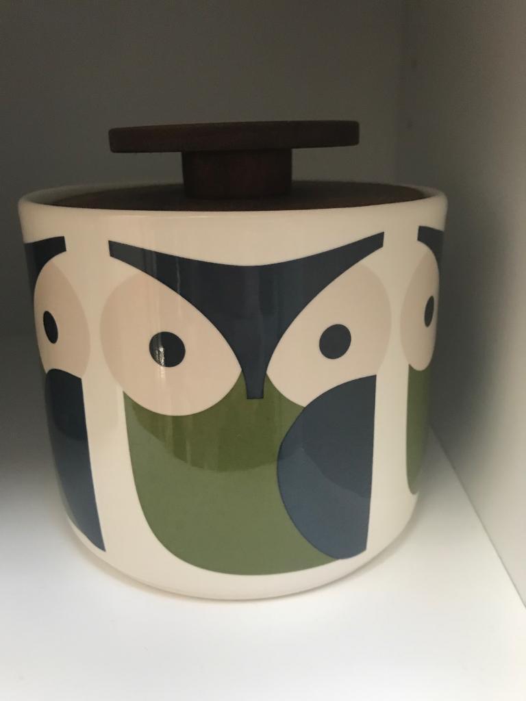 Orla Kiely Wooden Lidded Owl Storage Jar In Calne Wiltshire Gumtree