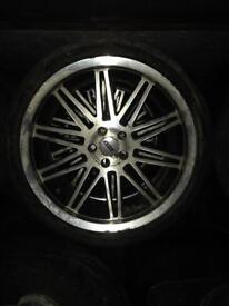 "18"" 5x100 pcd alloy wheels"