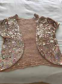 Sequin short sleeved jacket