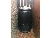 Brand-new large black compost bin