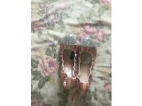 Rose gold womens shoes