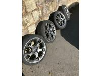 Fiesta 17inch alloys full set Snowflake