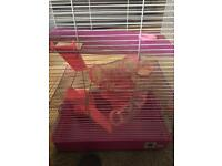 3tier Pink hamster cage