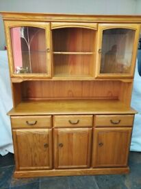 Jentique Mid Century Teak Welsh Dresser/ Display Unit