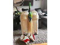 PUMA CRICKET BUNDLE puma grade 1 cricket bat puma cricket pads cricket gloves Adult Size Cricket Set