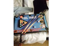 NEW IN BOX NEVER USED TABLE TOP POOL TABLE BOUGHT FROM RED 5 SHOP