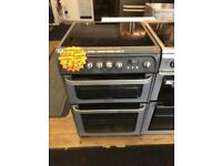 HOTPOINT 60CM CEROMIC TOP ELECTRIC COOKER IN SILIVEE
