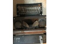 Cast iron traditional typewriter