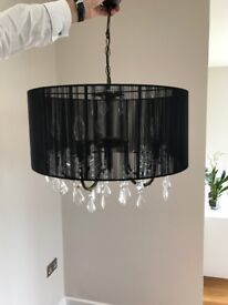 SHOW HOME FURNITURE - Black and Crystal Chandelier (I have 2 but priced individually)