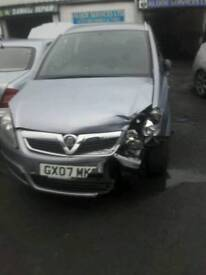 Vauxhall zafira 2007 ENGINE REBUILD FROM VAUXHALL DEALER 1.6 Manual Petrol