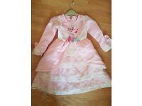 Pink puffy princess dress