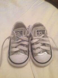 Silver Glitter Converse - infant size 3