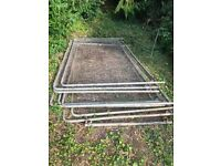 Free metal fence panels, metal stand and plastic tubing