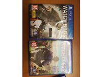 Watch dogs 1+2. , 1 is sealed ps4 game watchdogs watch dog