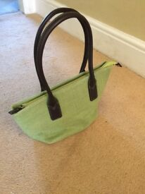 New Quintessential UK: Lime Green 'Straw' Handbag
