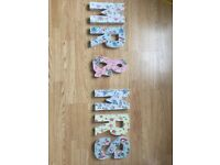 Handmade shabby chic letters