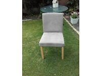 4 Dining Chairs- biege velour