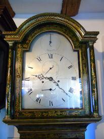 Fine Chinoiserie 8 Day Longcase Clock by Hammond Nicholls of Canterbury c.1795 : Provenance.
