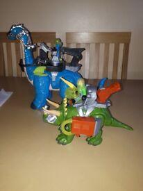 Imaginext dinosaur toys.