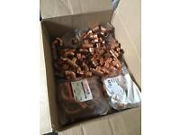 Joblot box of 400 endfeed copper plumbing fittings 15mm