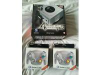 Sealed Resident Evil 4 Gamecube Console & 2 Brand New Wavebird Controllers