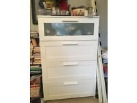 Chest of White Four Drawers Ikea