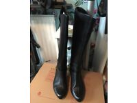 Clark's knee high black boots size 4.5