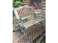 Iron & Wood Garden Furniture