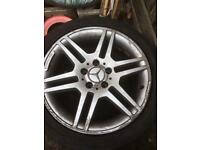 "Mercedes c class original Amg alloys (rims) 17"""