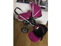 Lovely pink silvercross surf 2 pram pushchair