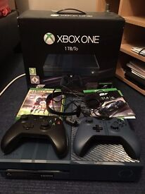 Xbox One for sale, 1 TB, 2 controllers, FIFA 16, Forza 6, headphones, boxed.
