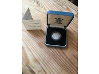 Silver Proof 1998 Royal Mint Pound Coin With certificate of Authenticity