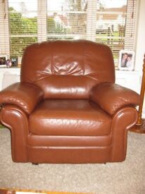 Free!! Brown Leather Chair