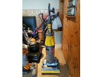 yellow Dyson DC07 All Floors Upright Hoover tools new roller brush bar no texing phone