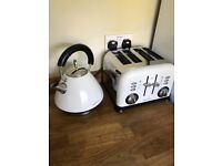 Murphy Richards kettle and toaster set in cream