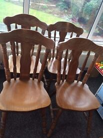 @@SOLID PINE CARVED CHAIRS, HEFTY AND VERY HEAVY@@